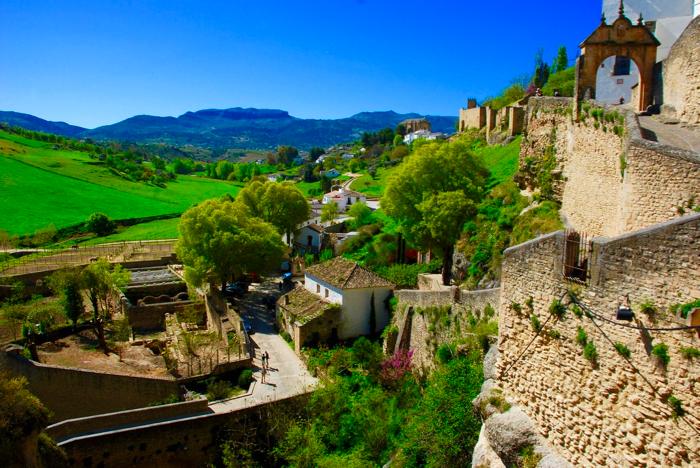 Spain off the beaten path. Rhonda, Spain city view