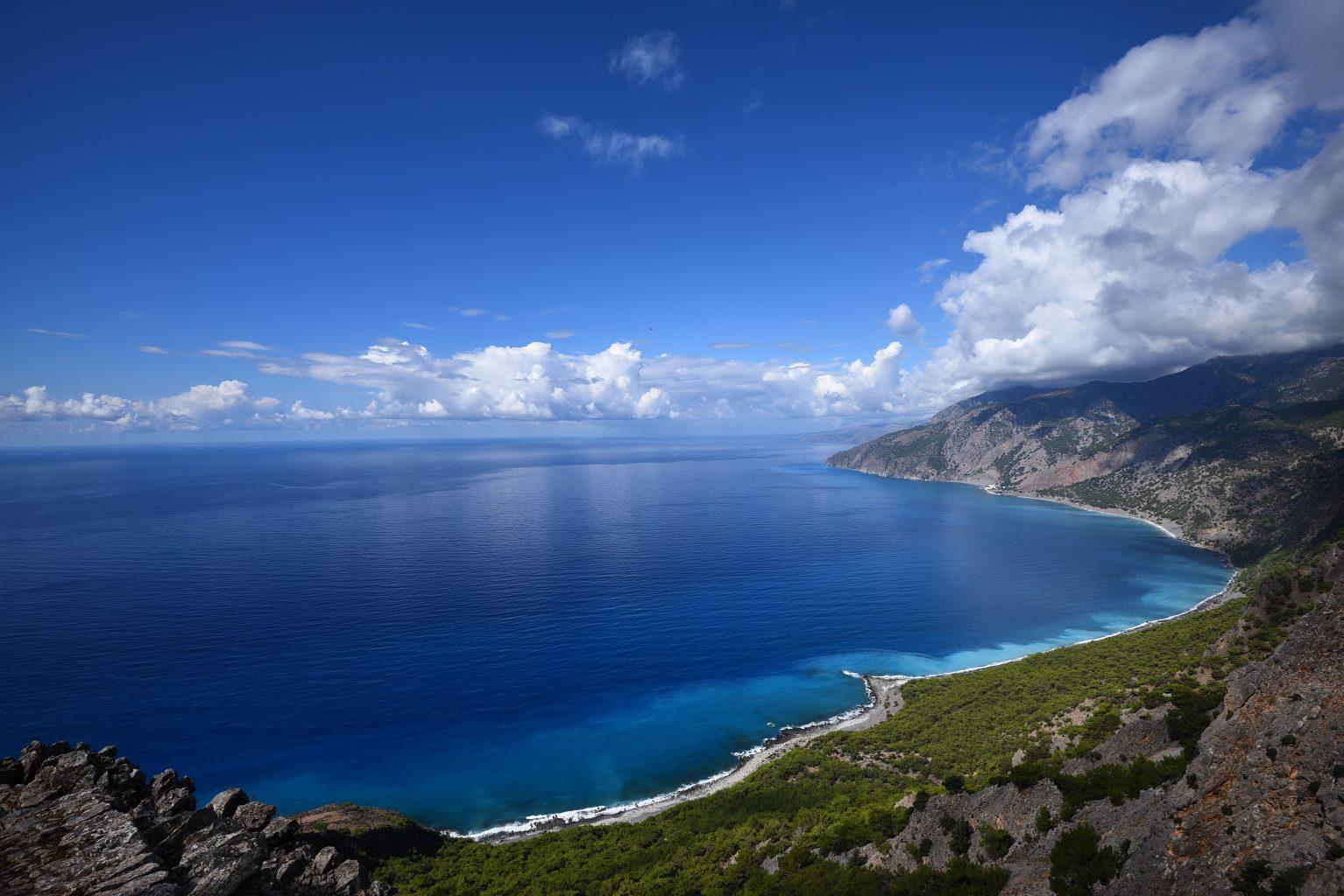 Crete Island Coast Line