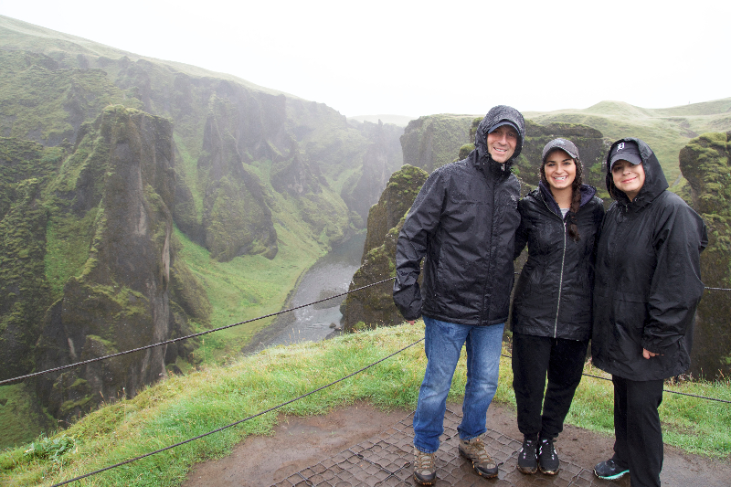 Family adventure in Iceland_canyon