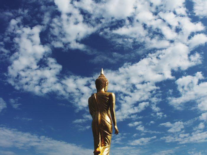 statue in Nan, Thailand