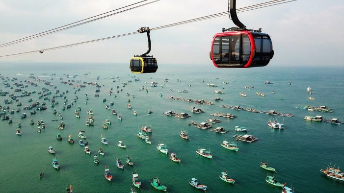Cable car on Phu Quoc Island