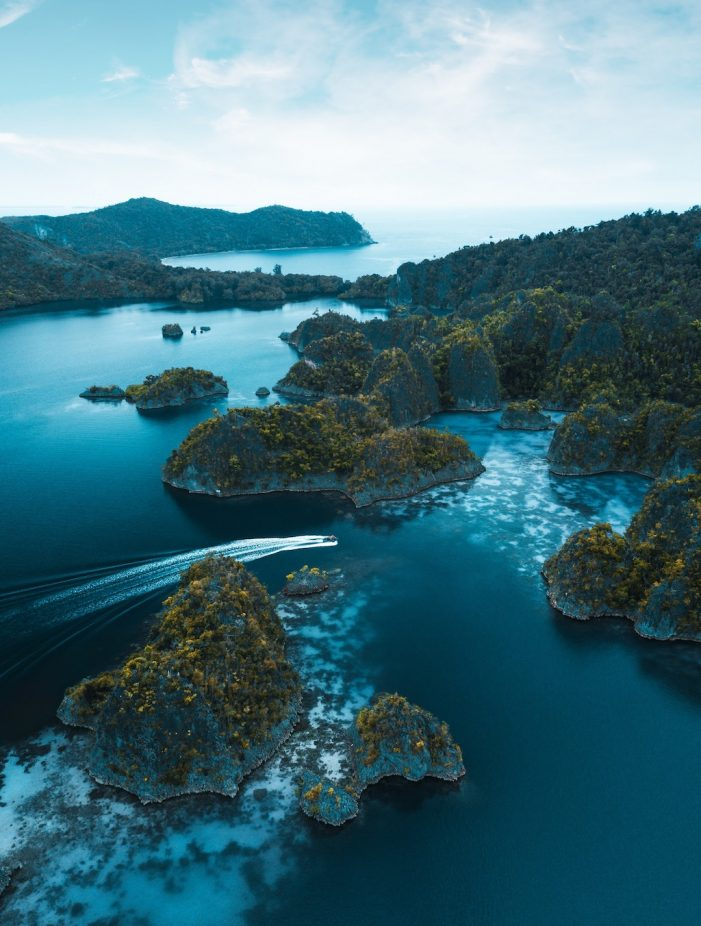 Raja Ampat from the sky, Indonesia