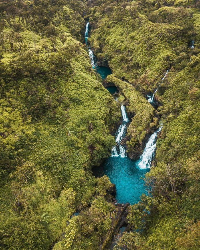 Road to Hana waterfalls, Maui, Hawaii