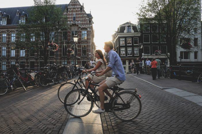 biking like a local in Amsterdam