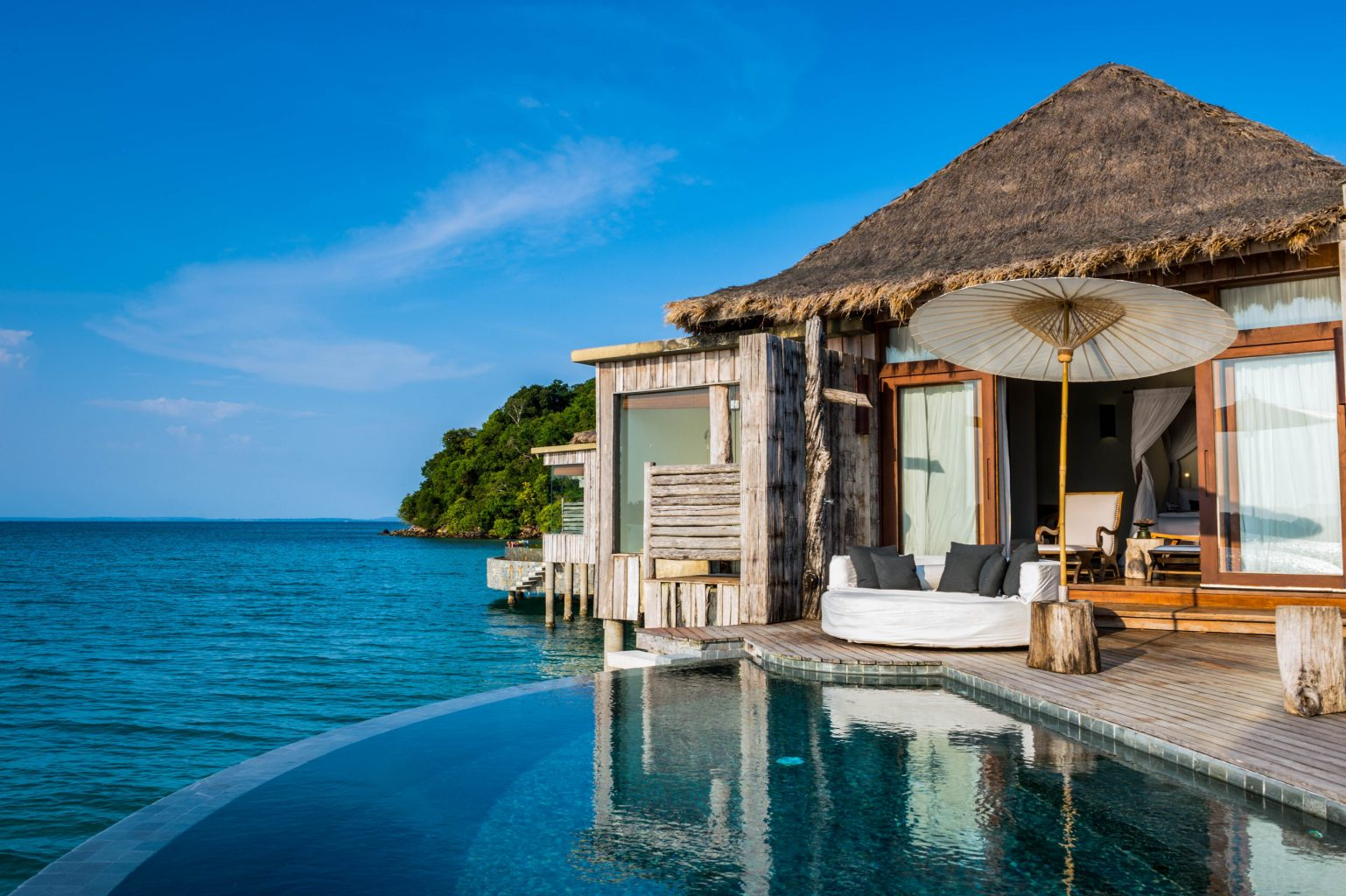 Overwater Bungalow with private pool and lounge area